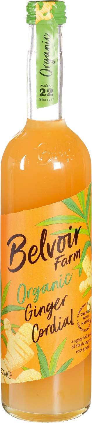 Biologische Belvoir Fruit Farms Ginger cordial siroop 500 ml