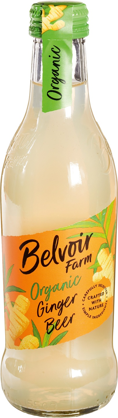 Biologische Belvoir Fruit Farms Ginger beer pressé 250 ml