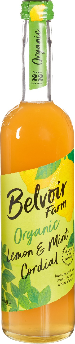 Biologische Belvoir Fruit Farms Lemon + Mint cordial 500 ml