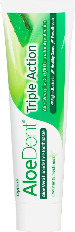 Biologische Aloe Dent Tandpasta aloë vera triple action 100 ml
