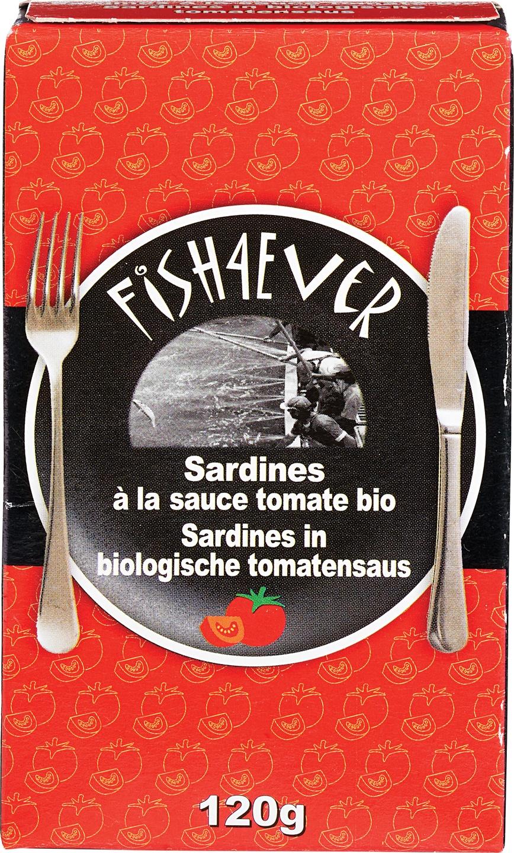 Biologische Fish 4 Ever Sardines in tomatensaus 120 gr