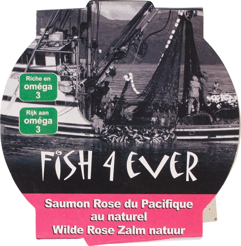 Biologische Fish 4 Ever Wilde roze zalm in water 160 gr
