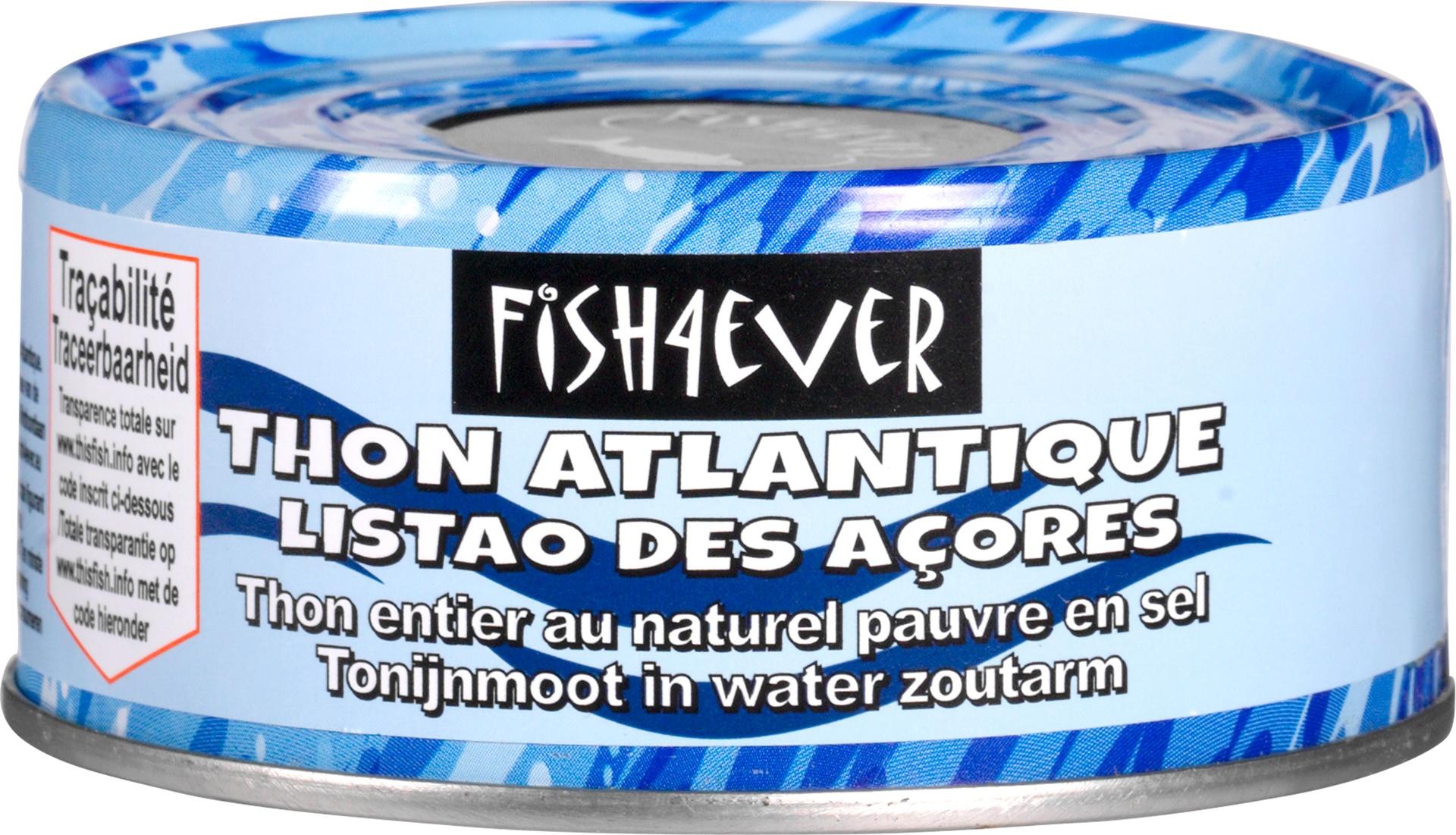 Biologische Fish 4 Ever Tonijnmoot in water zoutarm 160 gr