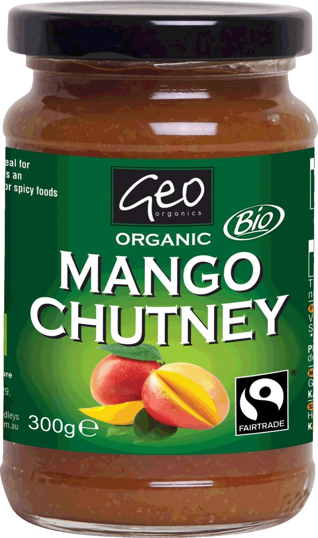 Biologische Geo Organics Mango-Chutney 300 gr