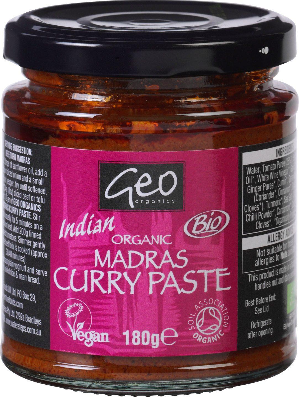 Biologische Geo Organics Indian madras curry paste 180 gr