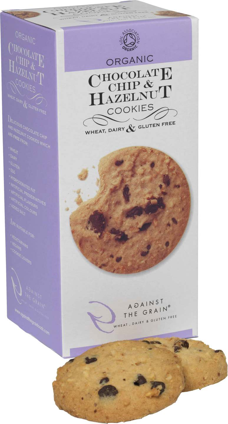 Biologische Against the grain Chocolate Chip & Hazelnut 150 gr