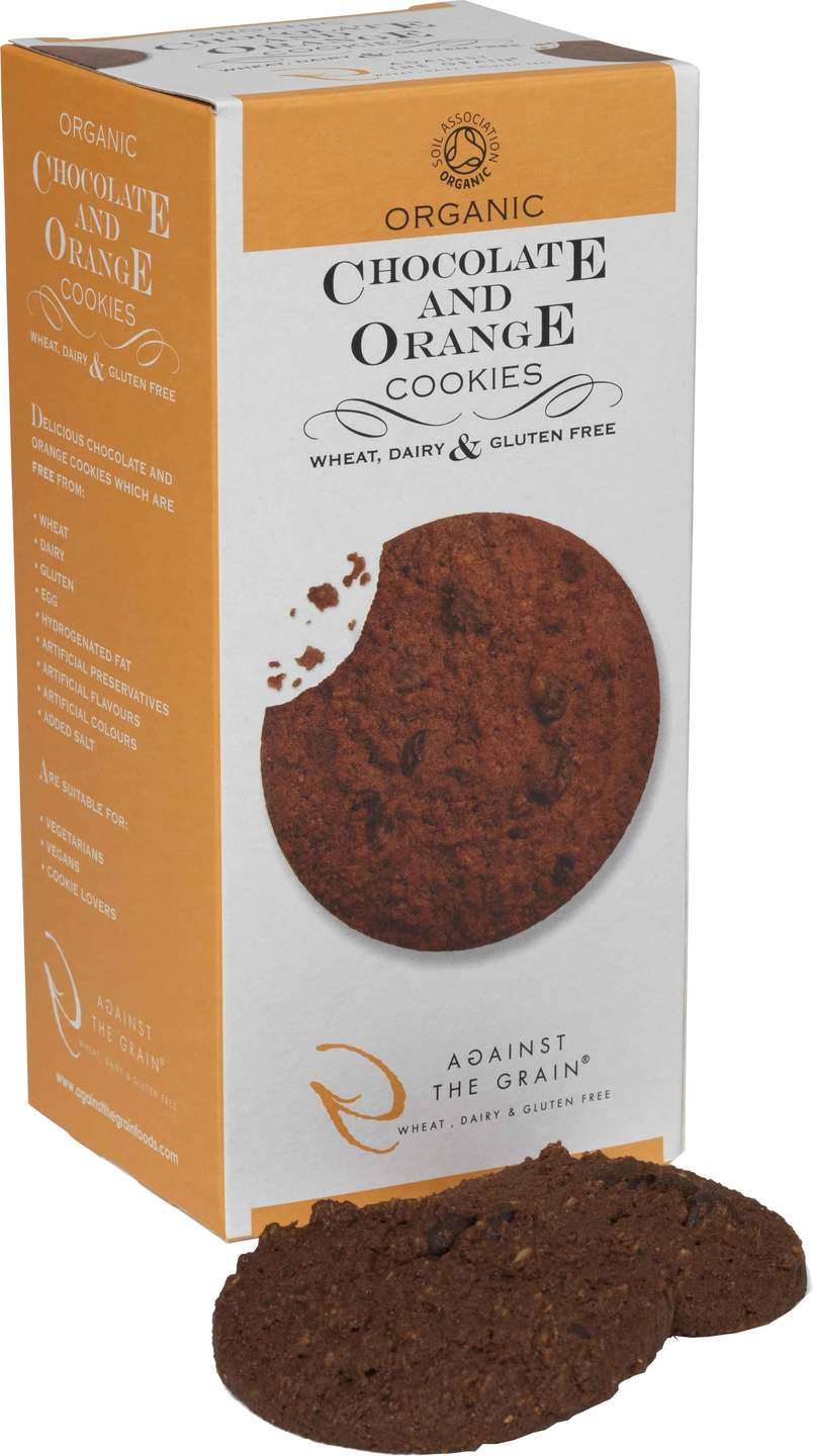 Biologische Against the grain Chocolate & Orange GV 150 gr