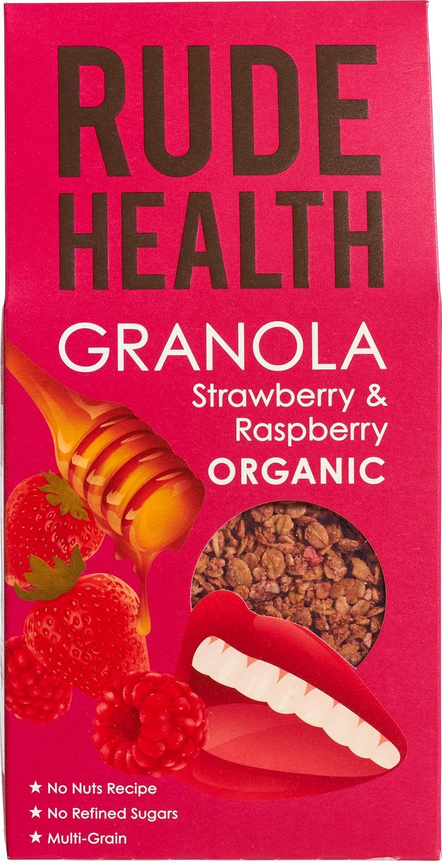 Biologische Rude Health Strawberry & raspberry granola 450 gr