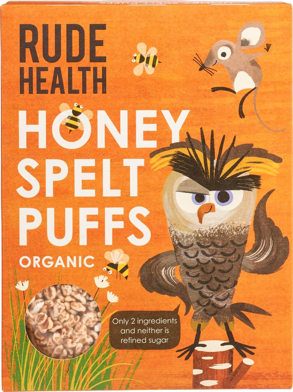 Biologische Rude Health Honey spelt puffs 175 gr