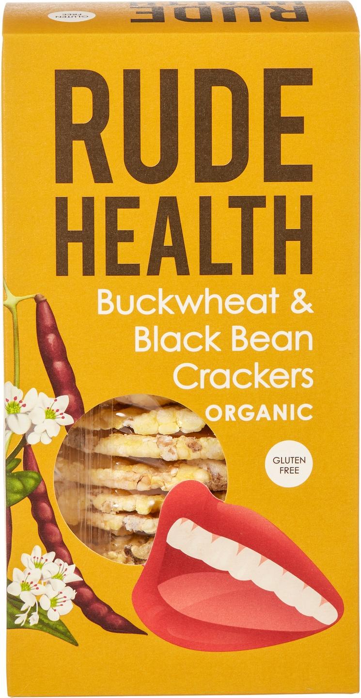 Biologische Rude Health Boekweit en zwarte bonen crackers 120 gr