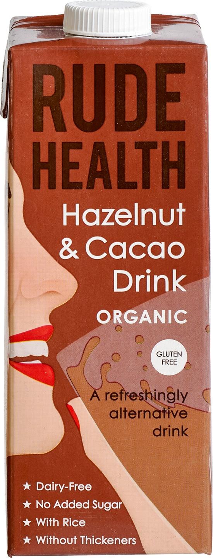 Biologische Rude Health Chocolate & Hazelnut drink 1 L