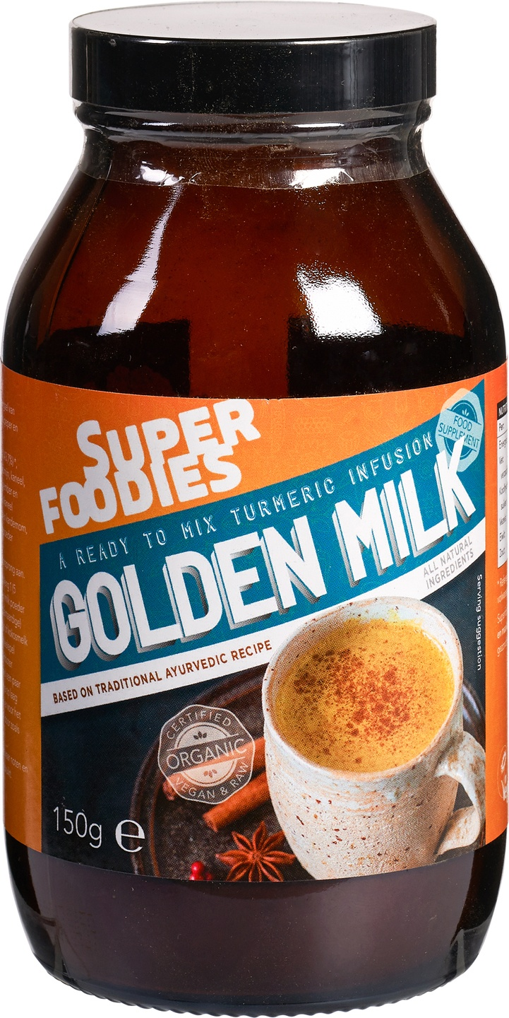 Biologische Superfoodies Golden milk mix powder 150 gr