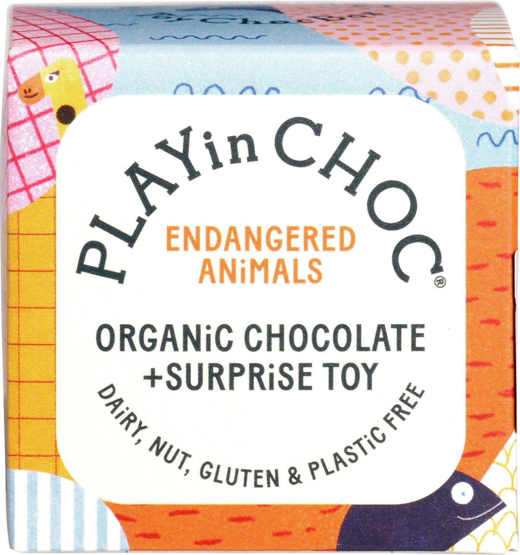 Biologische PLAYin CHOC Bedreigde diersoorten - chocola 20 gr