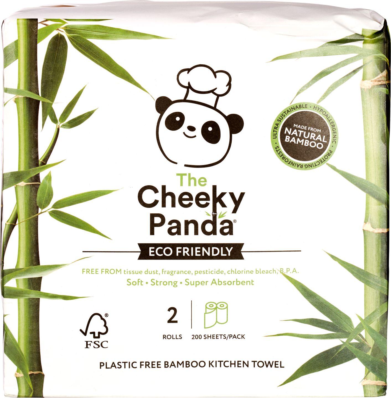 Biologische Cheeky Panda Keukenpapier bamboe 2-laags 2 st