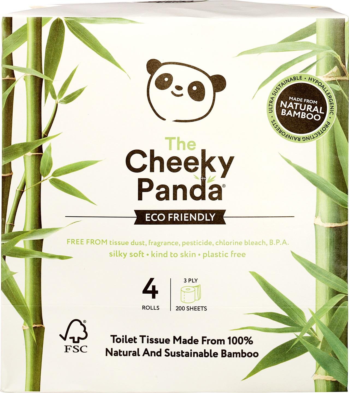 Biologische Cheeky Panda Toiletpapier 3-laags bamboe 4 st