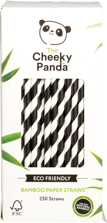 Biologische Cheeky Panda Bamboe rietjes 250 st