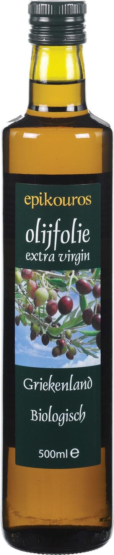 Biologische Epikouros Olijfolie extra vierge Grieks 500 ml
