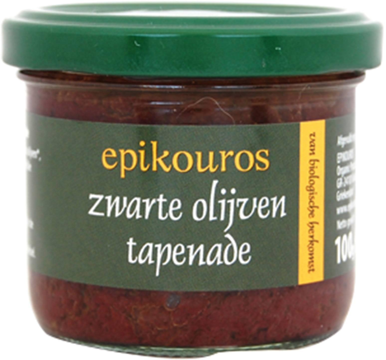 Biologische Epikouros Zwarte olijven tapenade 100 gr