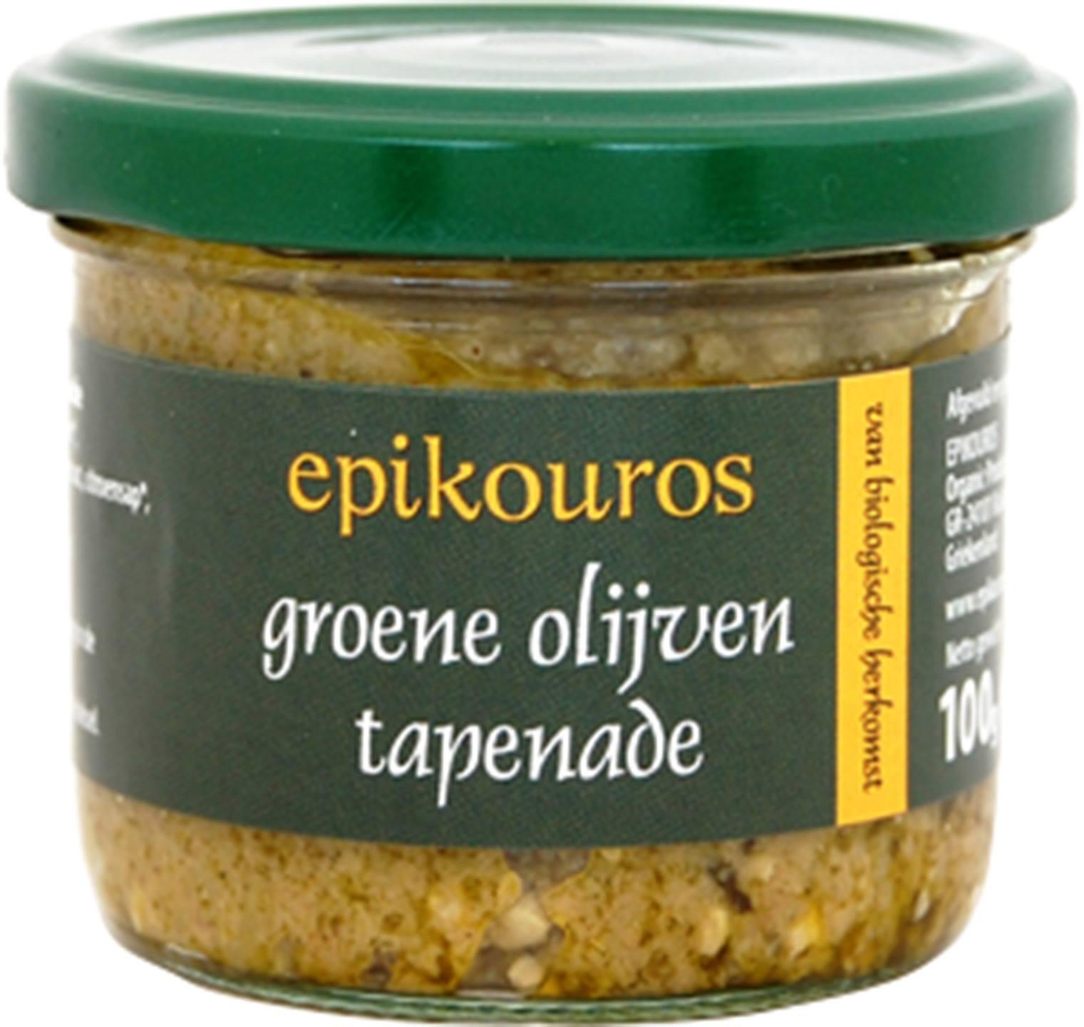 Biologische Epikouros Groene olijven tapenade 100 gr
