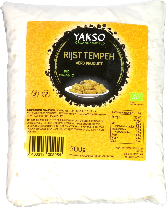 Biologische Yakso Tempeh rijst 300 gr