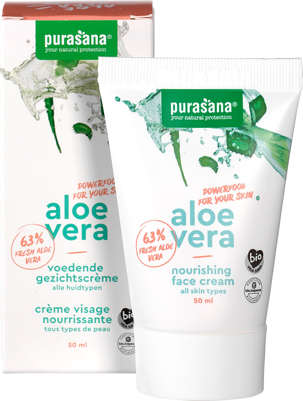 Biologische Purasana Dagcrème aloë vera - normale & gemengde huid 50 ml