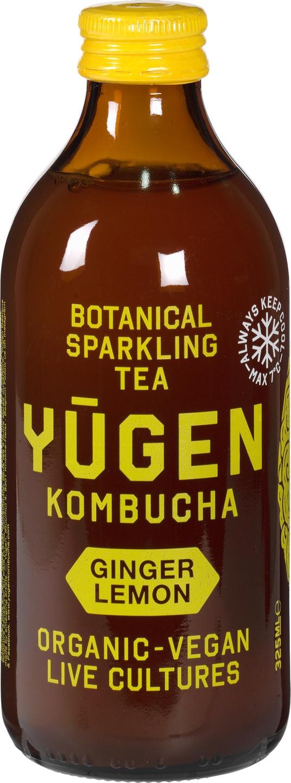 Biologische Yugen Kombucha Ginger Lemon 325 ml