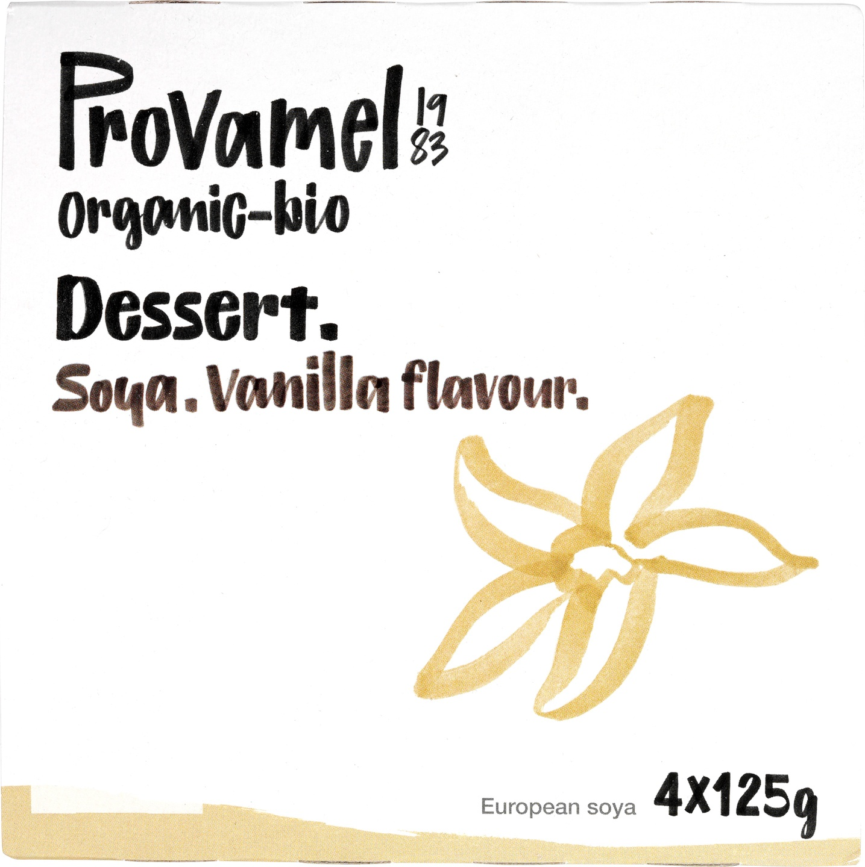 Biologische Provamel Soja dessert vanille 4-pack 500 gr