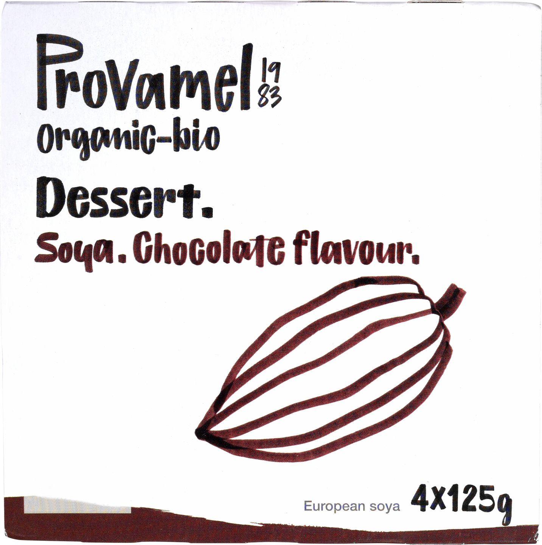 Biologische Provamel Soja dessert choco 4-pack 500 gr
