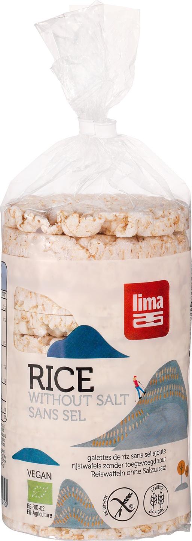 Biologische Lima Rijstwafels zoutarm 100 gr