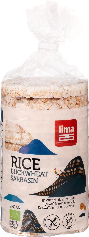 Biologische Lima Rijstwafels met boekweit 100 gr