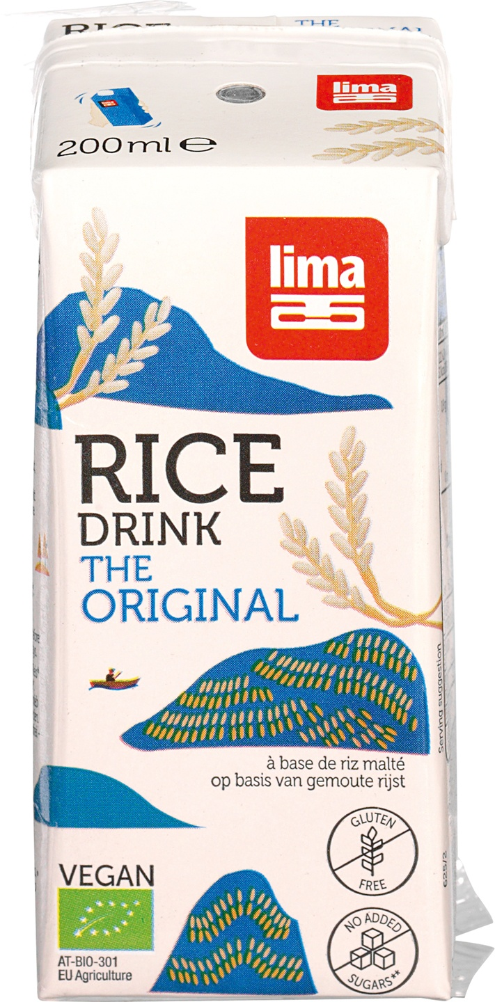 Biologische Lima Rice drink original 200ml 200 ml
