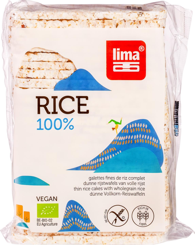 Biologische Lima Rijstwafels dun volrijst met zout 130 gr