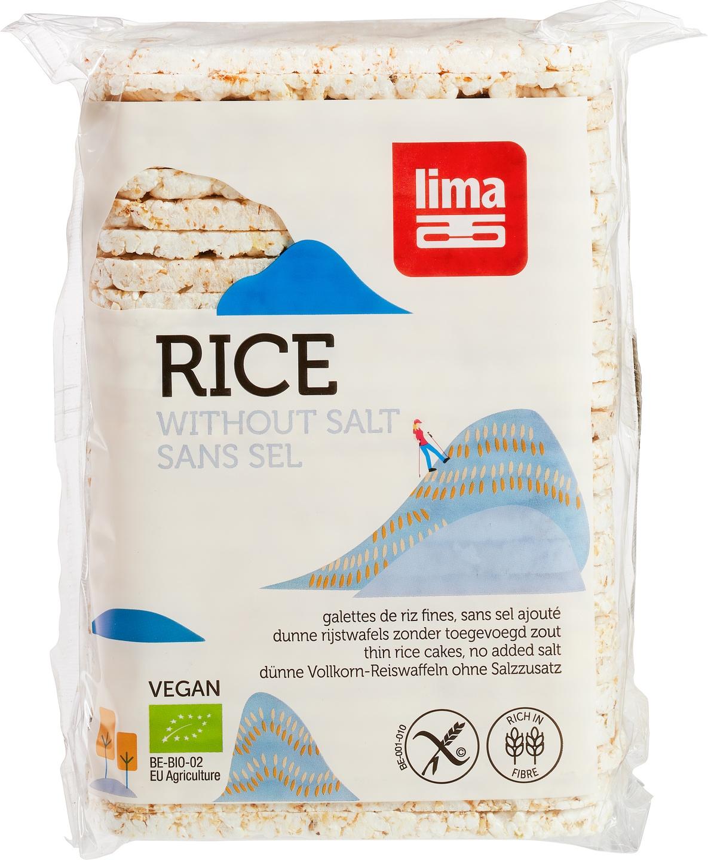 Biologische Lima Rijstwafels dun zoutarm 130 gr