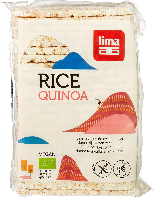 Biologische Lima Rijstwafels dun met quinoa 130 gr