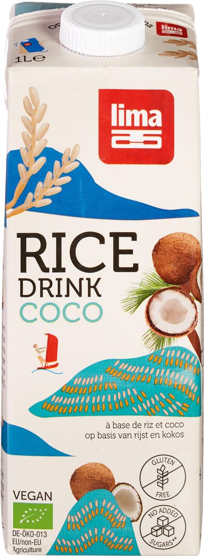 Biologische Lima Rijstdrink kokos 1 L
