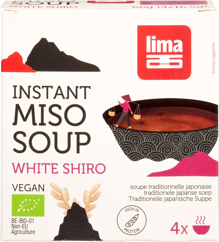 Biologische Lima Instant white shiro miso 66 gr
