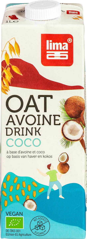 Biologische Lima Haverdrink kokos 1 L