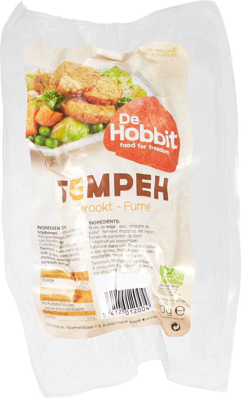 Biologische De Hobbit Tempeh gerookt 170 gr