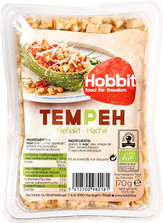 Biologische De Hobbit Tempeh gehakt 170 gr
