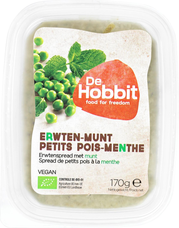 Biologische De Hobbit Erwten-munt-citroenspread 170 gr