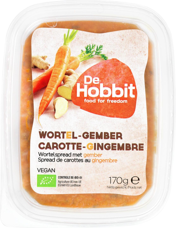 Biologische De Hobbit Wortel-gemberspread 170 gr