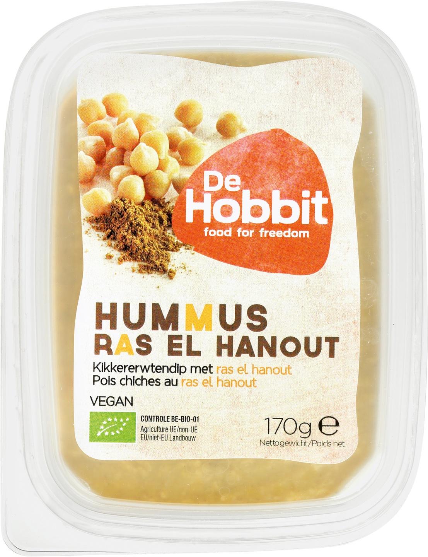 Biologische De Hobbit Hummus Ras el Hanout 170 gr