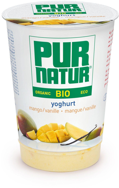 Biologische Pur Natur Yoghurt+Fruit Mango-Vanille 500 gr