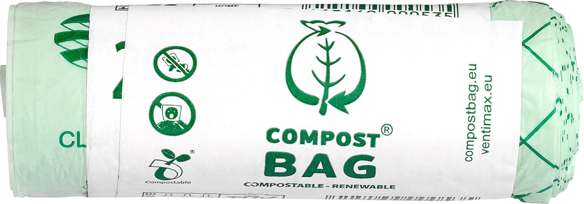 Biologische Compost Bag Afvalzak 10L composteerbaar 1 st