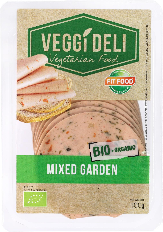 -13% SALE   Biologische FITFOOD Veggi Deli Vegetarisch broodbeleg tuinkruiden 100 gr