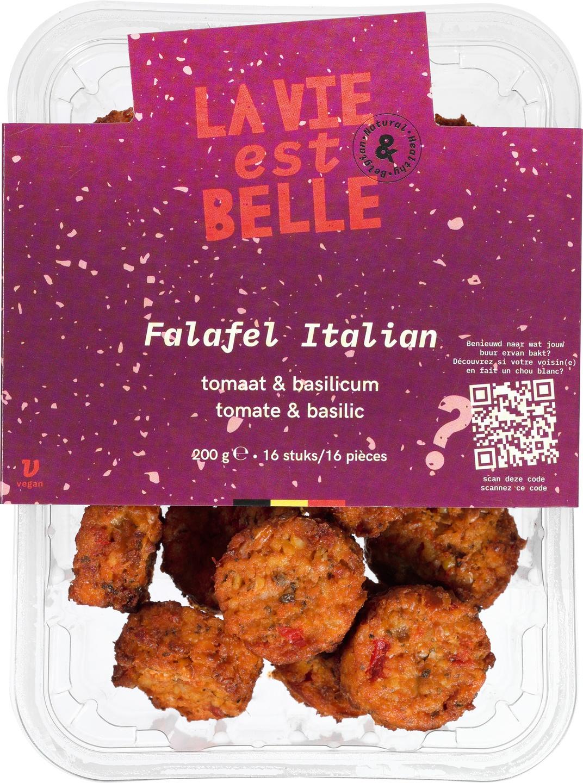 Biologische La vie est belle Falafel Italian - Tomaat & basilicum 200 gr