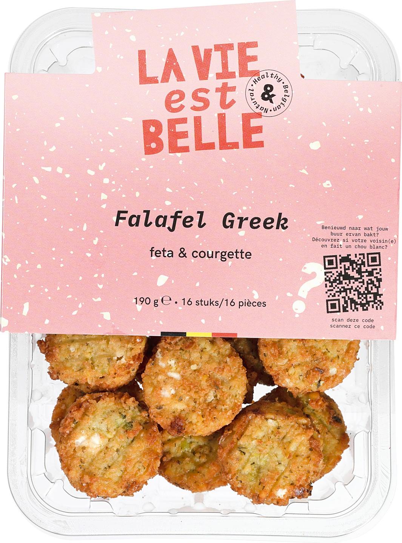 Biologische La vie est belle Falafel Greek 190 gr