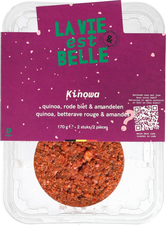Biologische La vie est belle Kinowa burger 170 gr