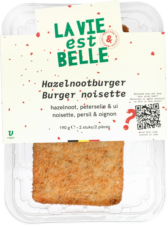 Biologische La vie est belle Hazelnootburger 190 gr
