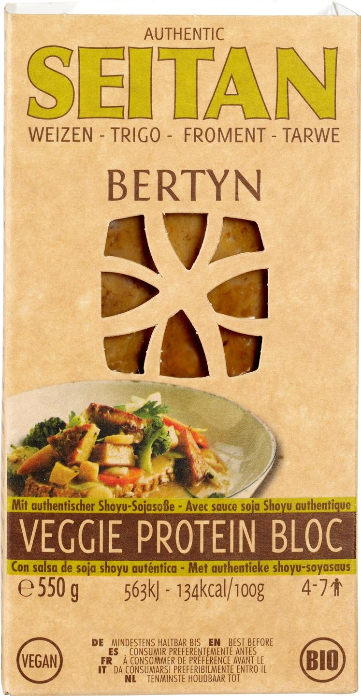 Biologische Bertyn Seitan-tarwe veggie protein bloc 550 gr